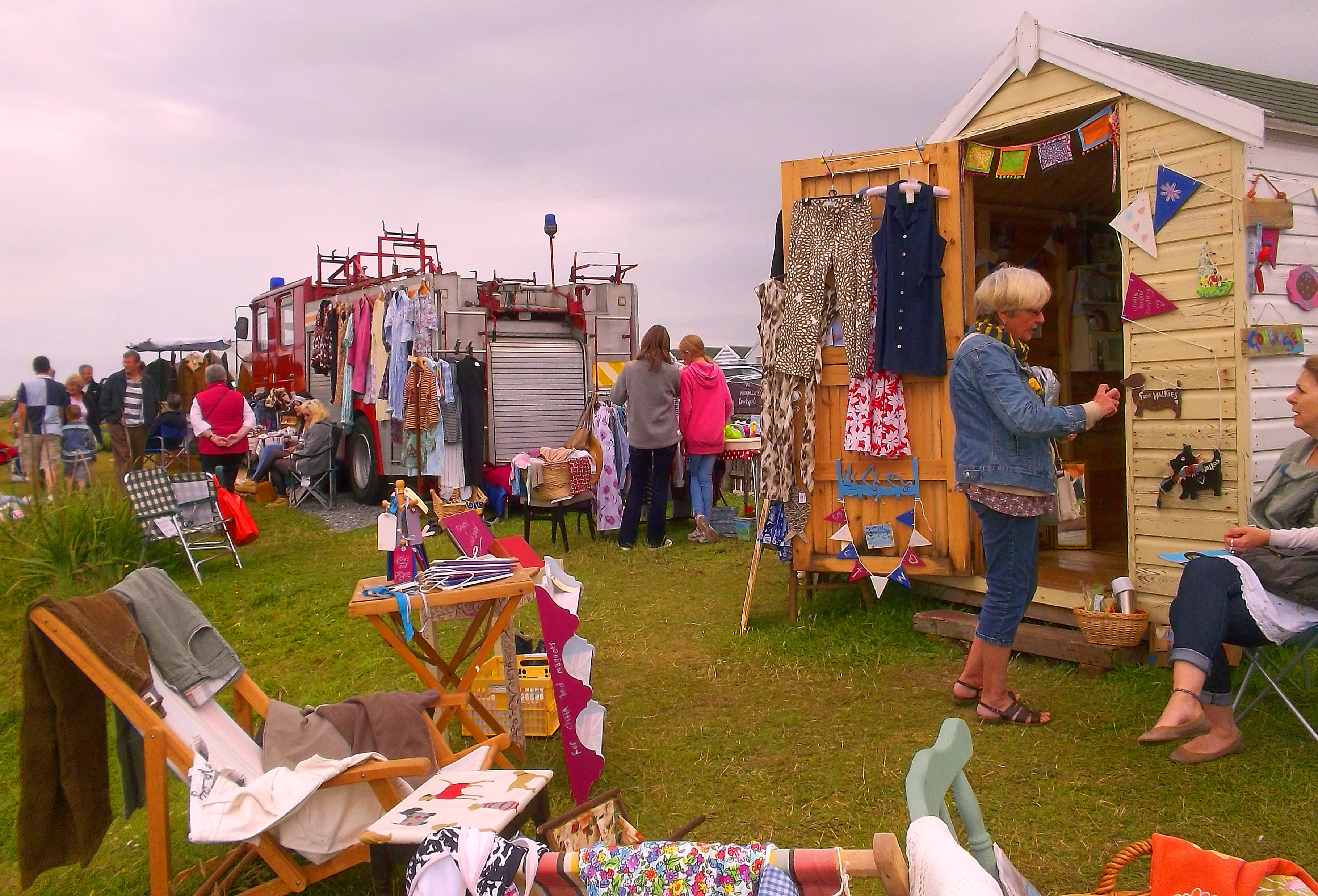 Vintage Beach Huts At The Seaside