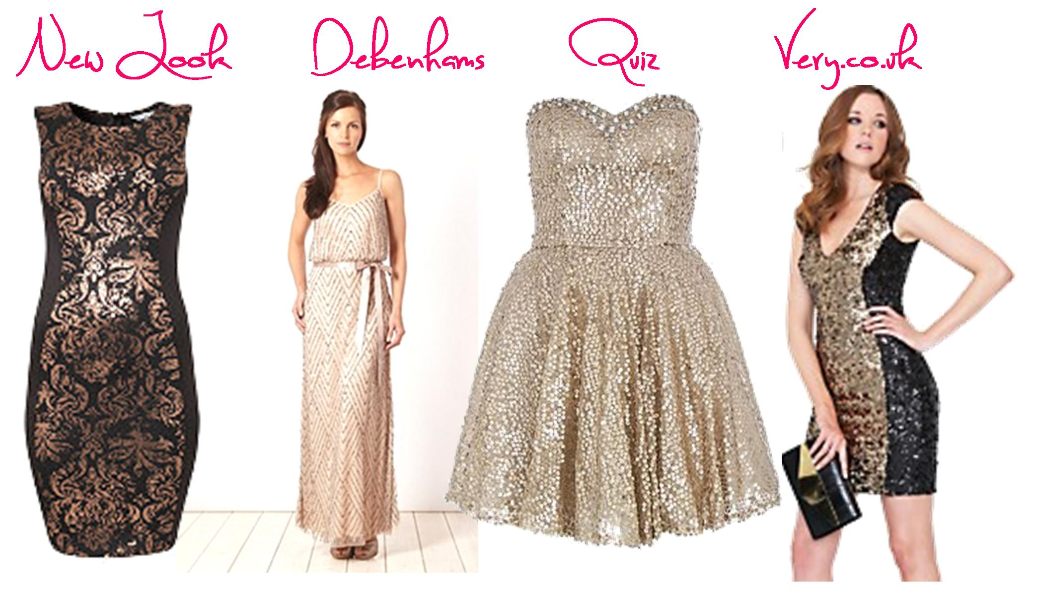 0b09974f6049 christmas dresses silver gold black sequin fashion party outfits very  debenhams quiz new look