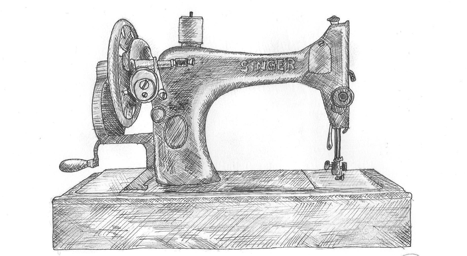 взгляды швейная машина картинки раскраски против