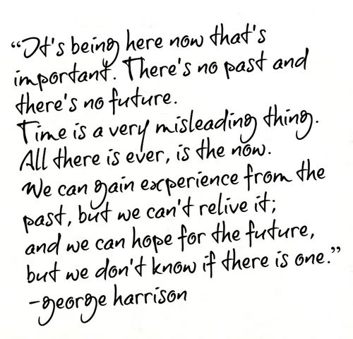 Famous Beatle Quotes: Silent Sunday // Quote From George Harrison