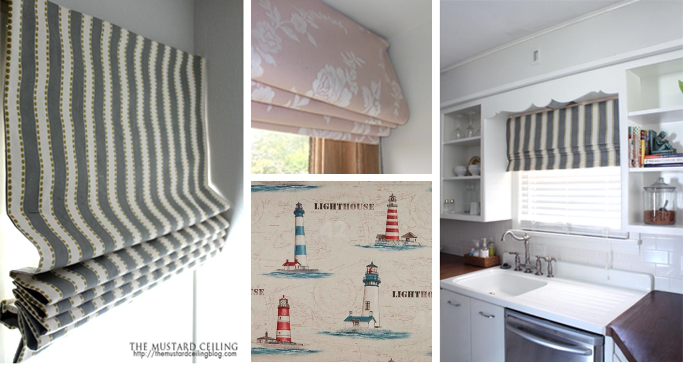 My new sewing project - making roman blinds