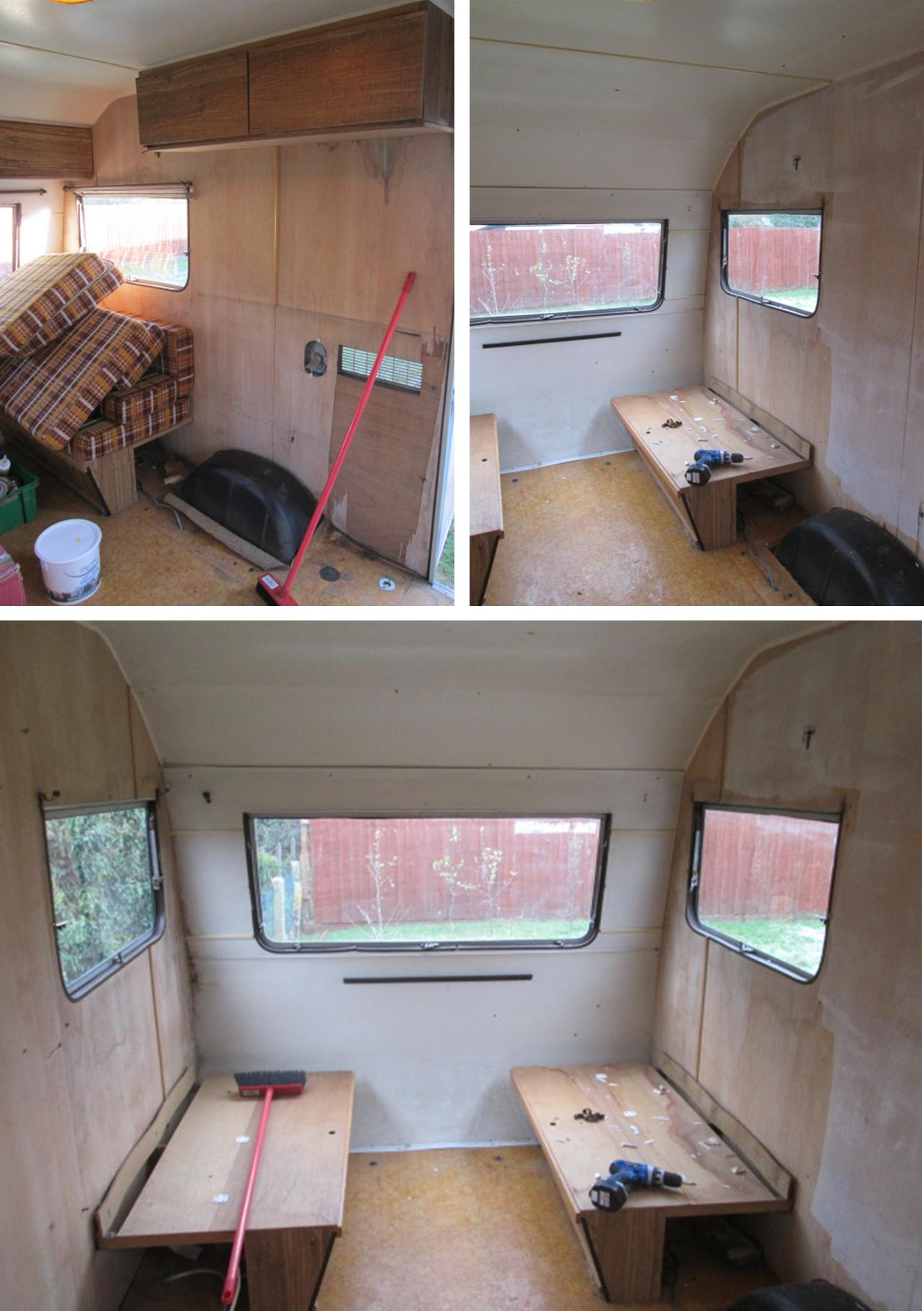 My little vintage caravan project clearing out the old Diy caravan interior design ideas