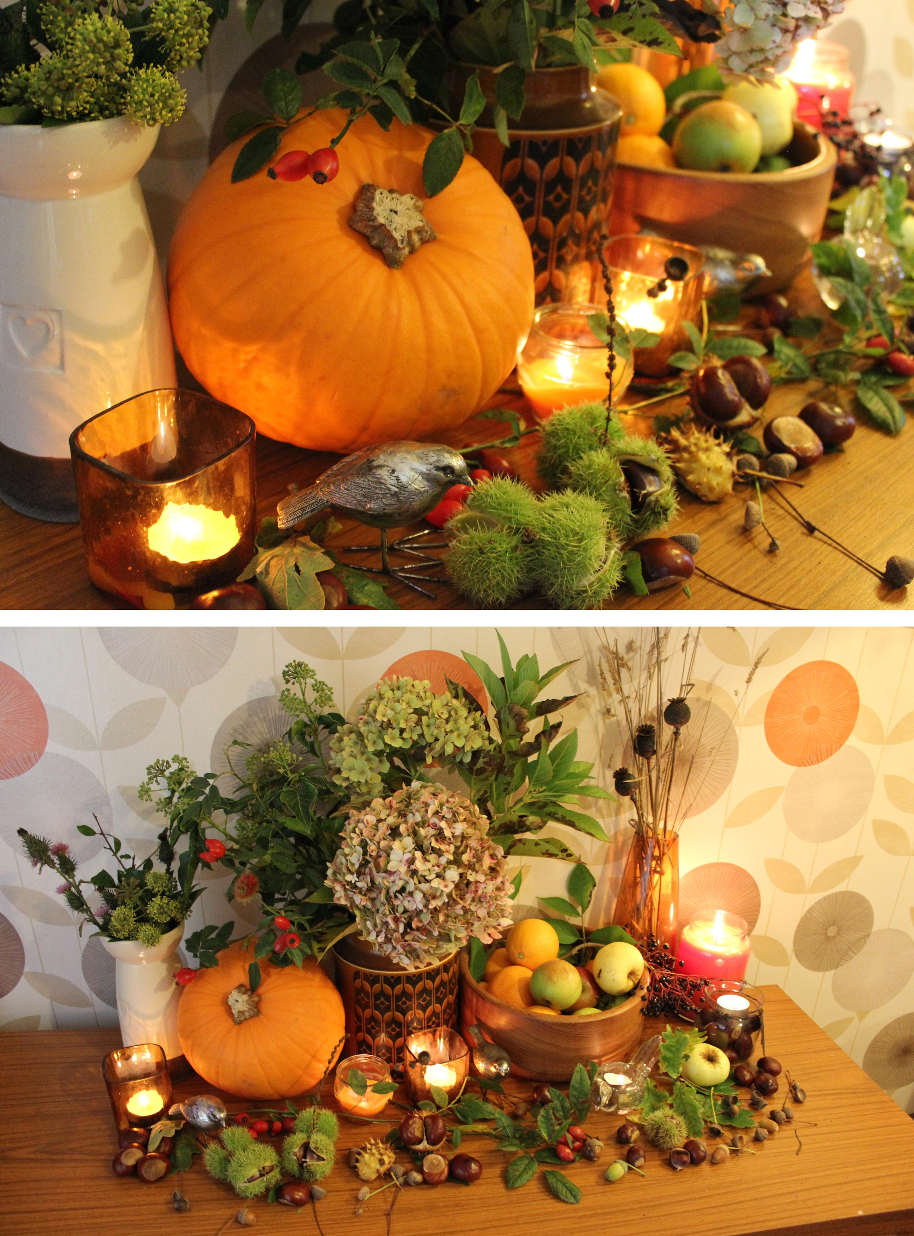 Decorating Around Harvest Gold Bathroom: Harvest Decorations In My Home