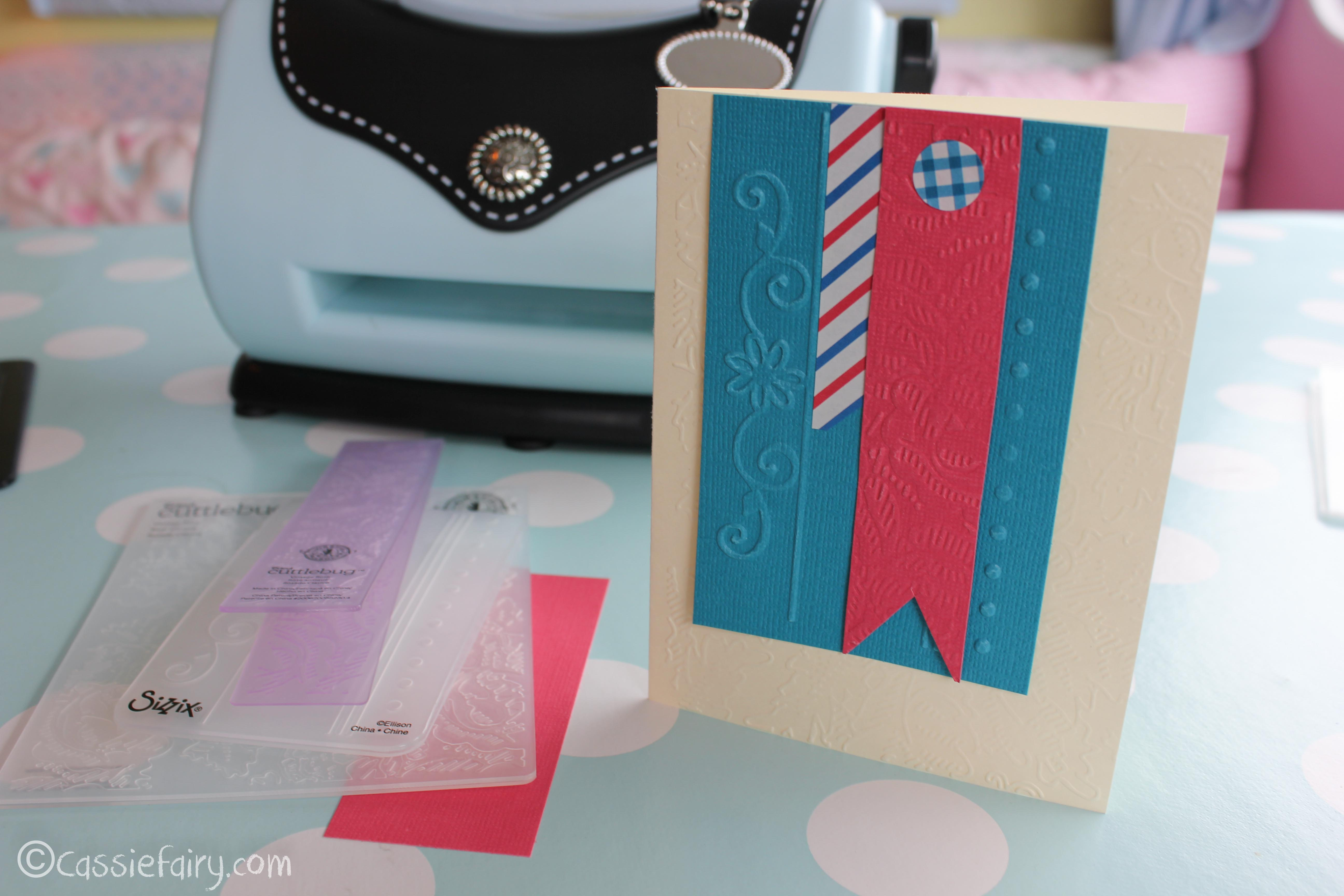 Card making craft ideas including sizzix embossing kit for Craft supplies for card making
