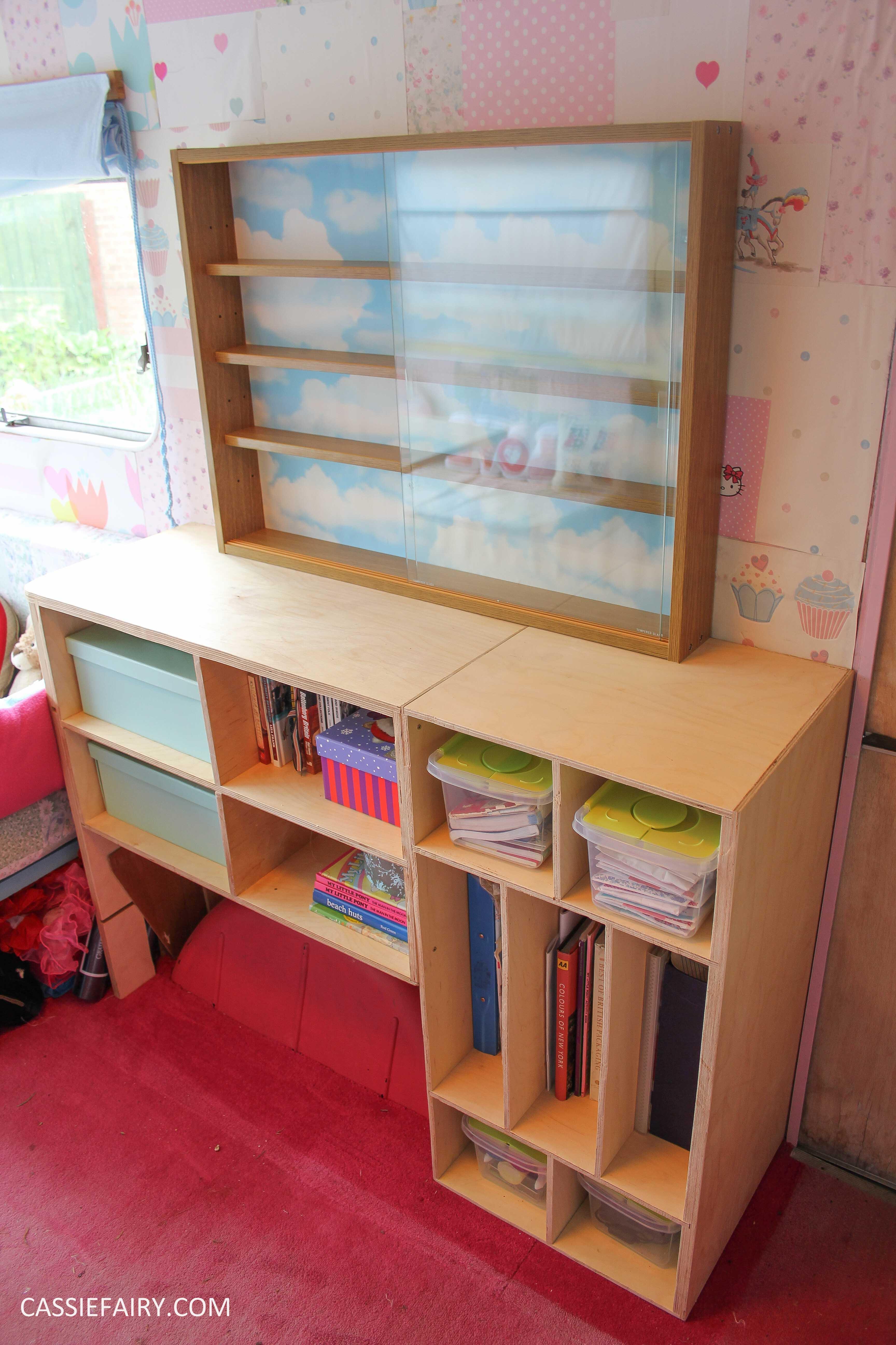 diy display cabinet makeover for vintage caravan_-6 | Cassiefairy - My ...