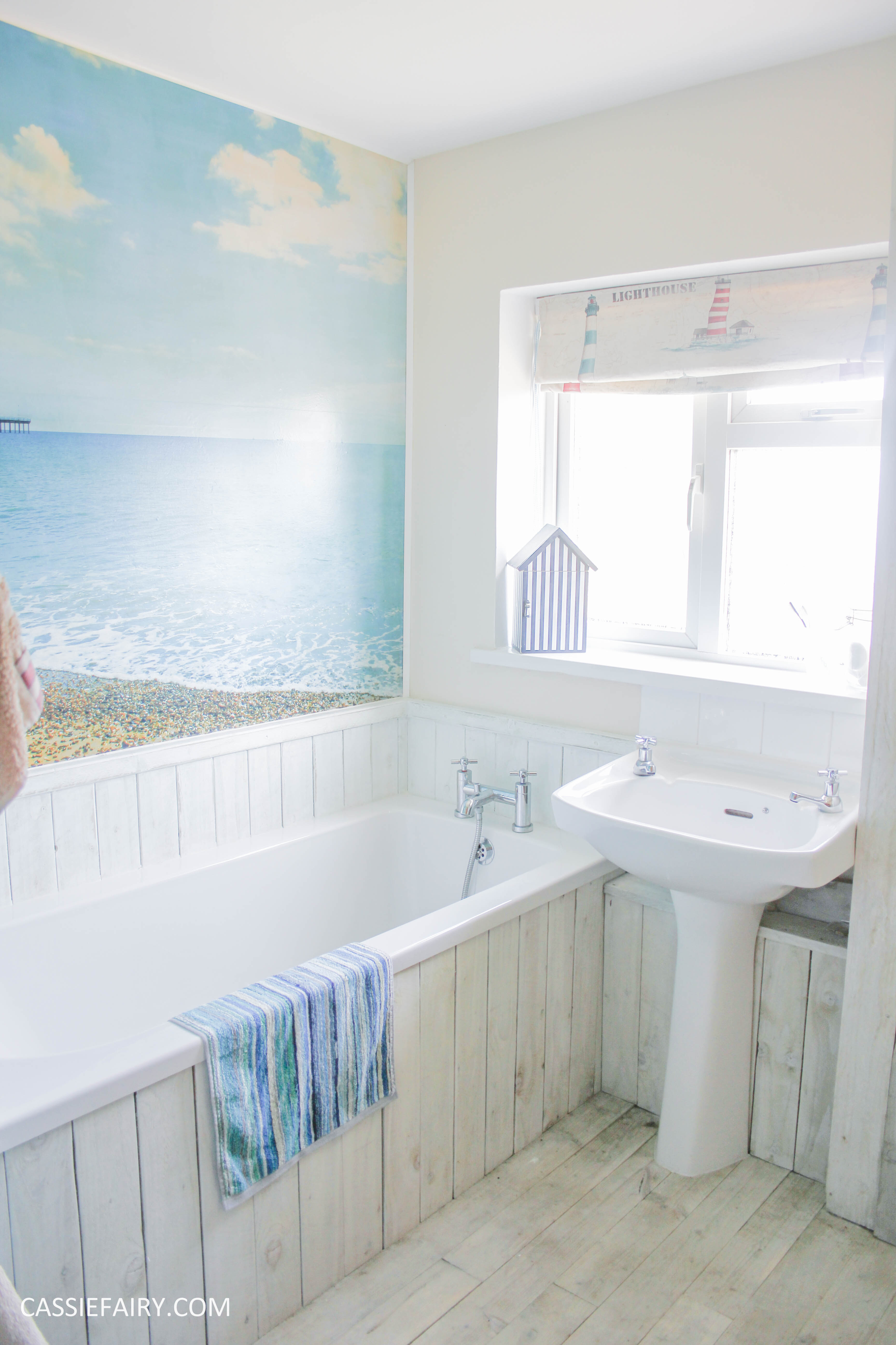 Diy Beach Hut Bathroom Makeover Project Low Budget Renovation 15