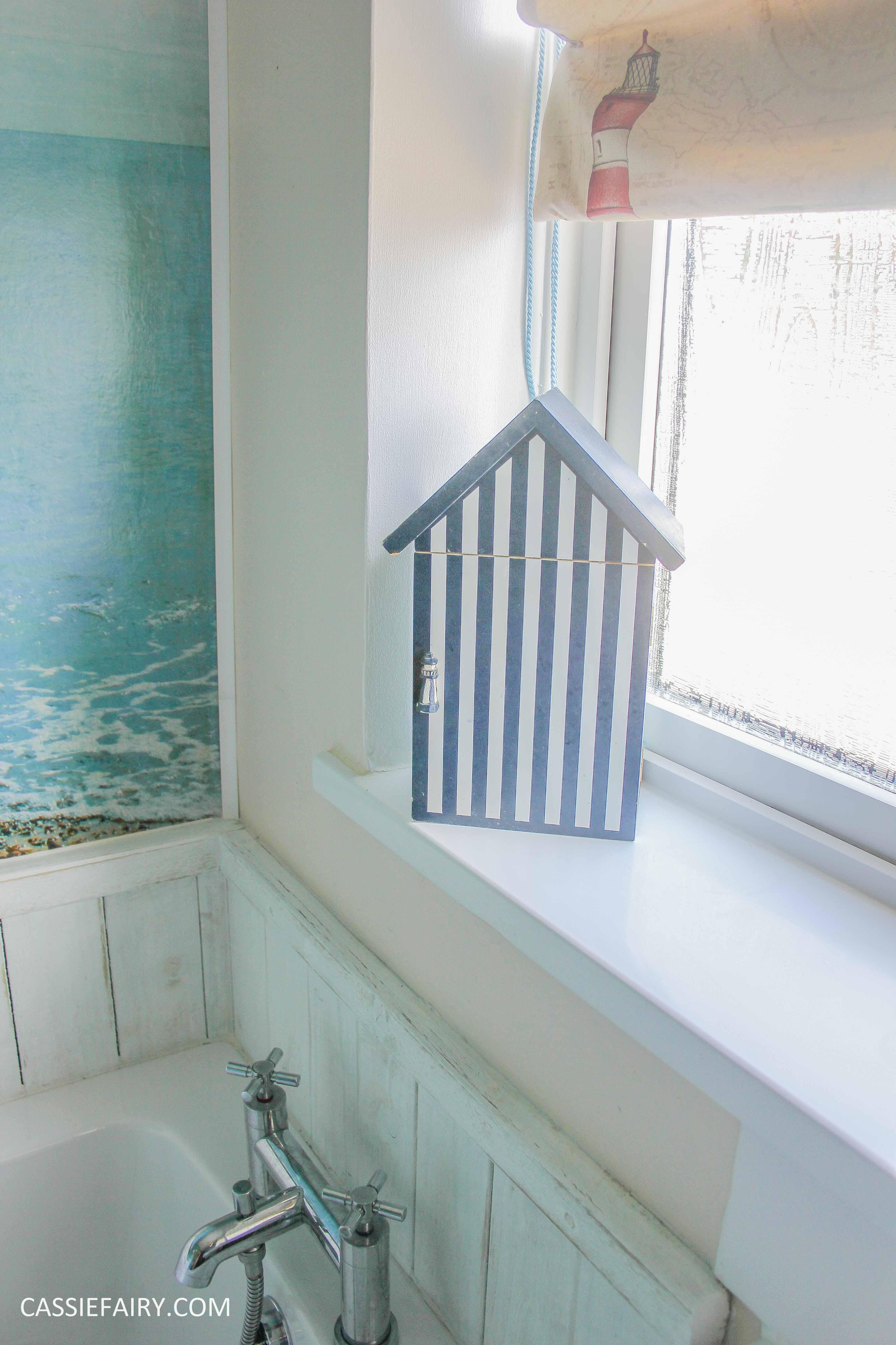 Beach Bathroom Makeover DIY