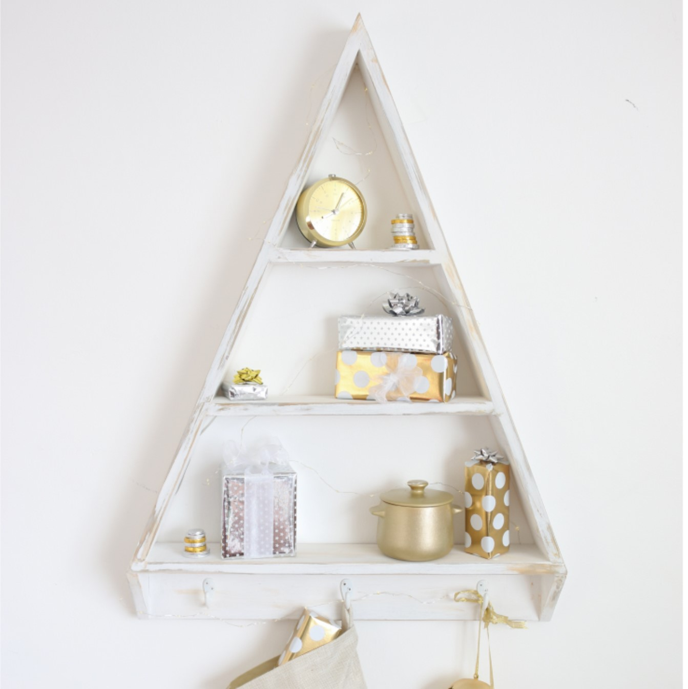 Diy Your Own Christmas Tree Wall Unit